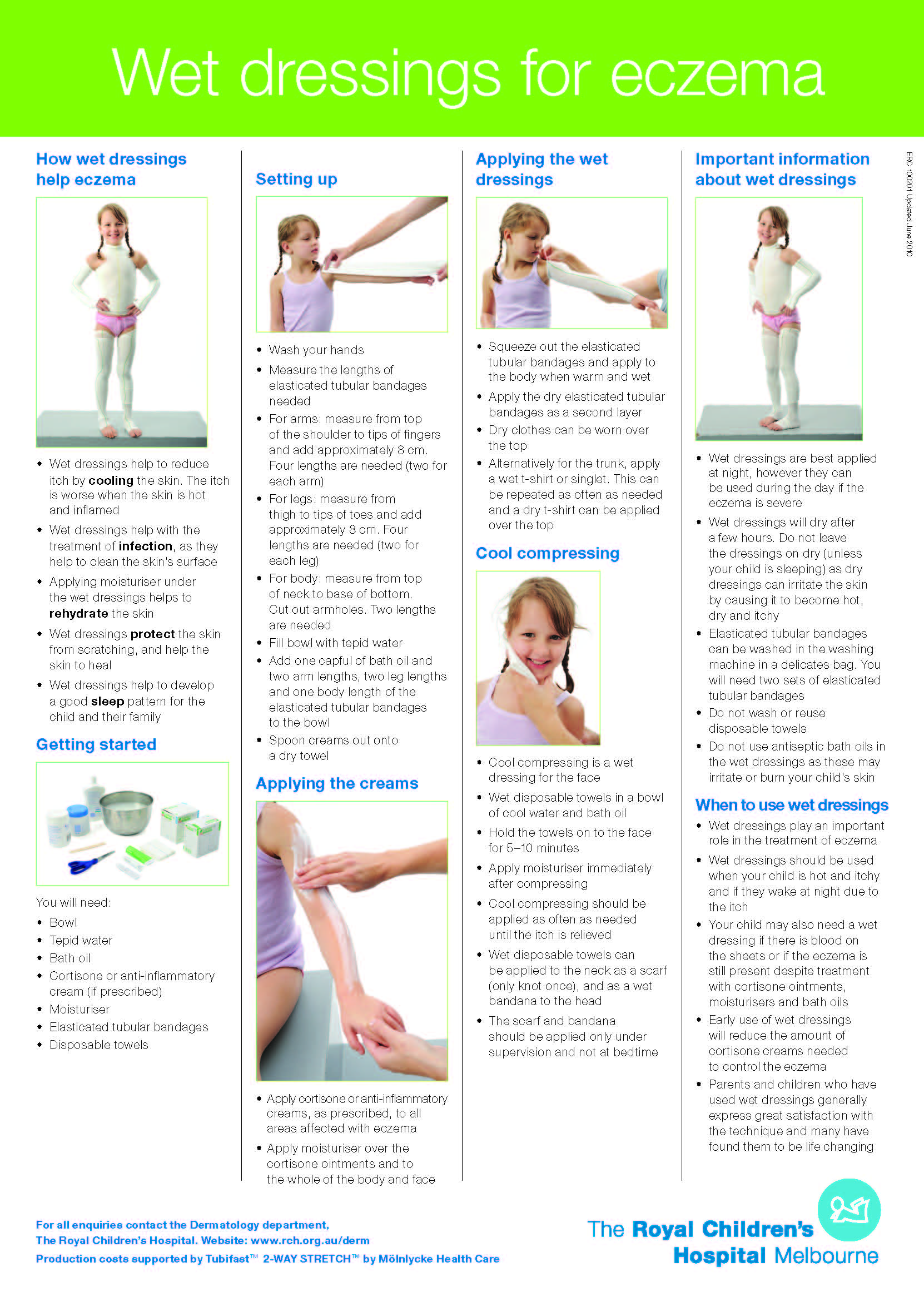 The right choices about using wet wraps to treat your child s eczema